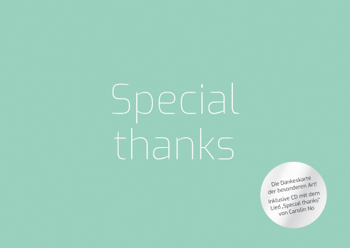 "Dankeskarte ""Special thanks"""